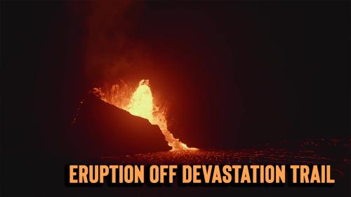 'Stunning footage from Kilauea Volcano's renewed eruption '