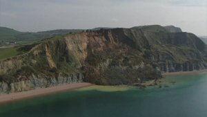 Footage Shows Britain's Jurassic Coast Affected by Major Landslide
