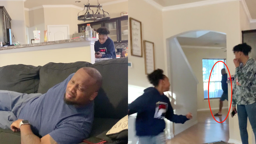 ''Shut up, Mom' Prank Goes Wrong | Dad Makes Daughter Run for her Life'