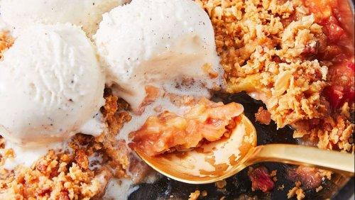 Pecan-Oat Rhubarb Crisp Is A Summer Classic