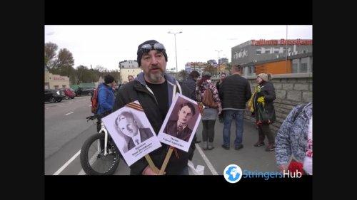 Immortal Regiment march in Tallinn, Estonia