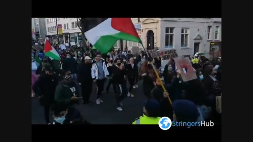 UK: Hundreds Join Palestine Solidarity Rally In Brighton