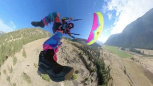 Speed Flying Down a Mountainside Dressed Like a Piñata is Probably the Strangest Thing You'll See