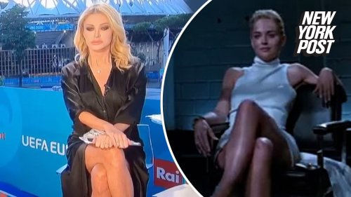 Euro 2020 host Paola Ferrari in underwear controversy after 'Basic Instinct' moment
