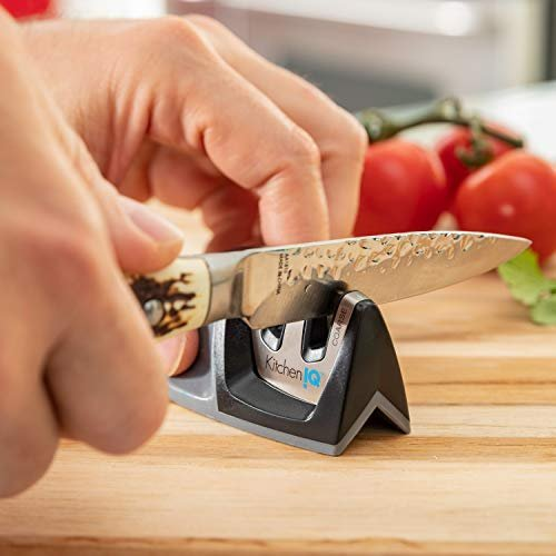 Two-stage knife sharpener