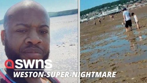 US influencer went viral after he visited a British seaside for the first time - and was less than impressed (RAW)