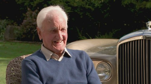 Retired chauffeur reunited with Bentley for 100th birthday