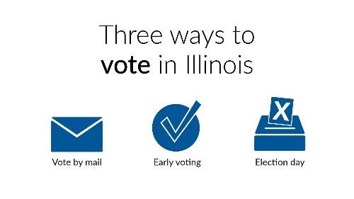 Three ways to vote in Illinois