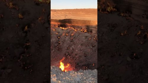 Gas crater continues to burn after 50 Years!