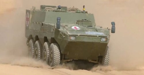 New Medevac Amphibious Armored Vehicle Enters Service With China's PLAGF