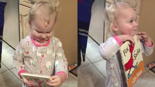 ''F**kin' Socks' Toddler Reveals the Title of her Favorite Book'