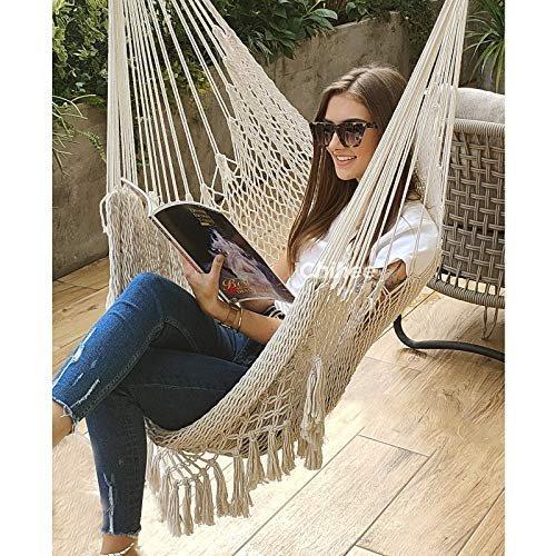 Comfortable cotton hammock chair