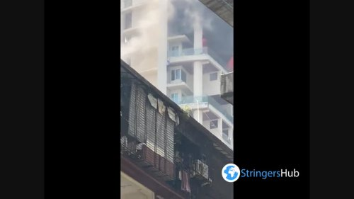 Massive fire at 60-storey residential building in Mumbai, India