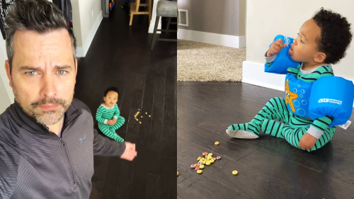 'Michigan Man Introduces a 'Snack Blocker' for Kids Eating Off the Floor '