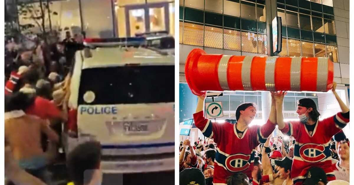 Habs Fans Went Wild In Downtown Montreal After Last Night's Victory (VIDEOS)