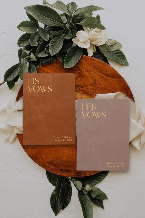 Keepsake vow books