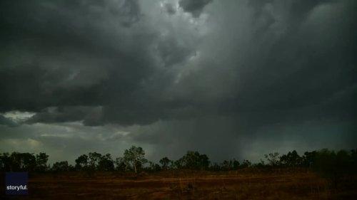 'Strobe Effect': Lightning Illuminates Storm Clouds in Australia's Northwest as Region Heads Into Wet Season