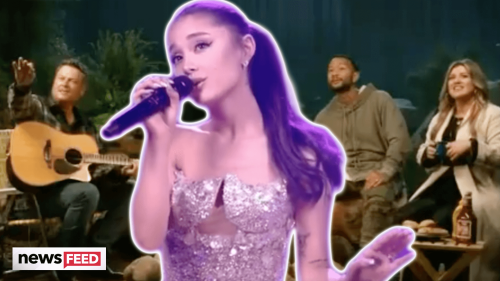 First Look At Ariana Grande As COACH On 'The Voice' In New Promo!
