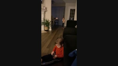 Bullseye! Unsuspecting Toddler Proves Tempting Target for Older Brother's Ball