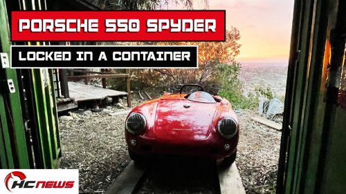 Super-Rare Porsche 550 Spyder Found In A Locked Container After 35 Years