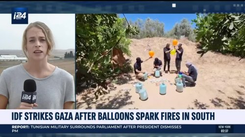 IDF Strikes Gaza After Incendiary Balloons Were Sent To The South