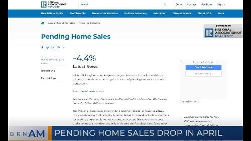 BRN AM   Pending home sales drop in April