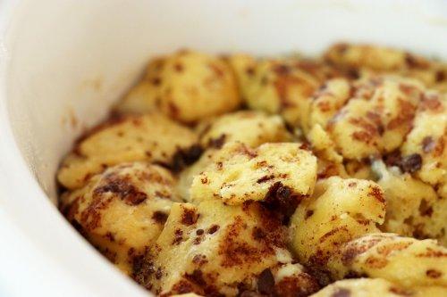 Crock Pot French Toast Cinnamon Roll Casserole
