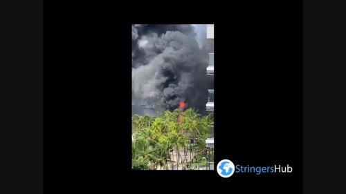 US: Large Fire Breaks Out In Waikiki, Hawaii 3