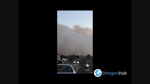 UK: Huge Moorland Fire Erupts In West Yorkshire