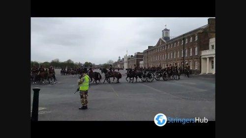UK: Gun salutes mark the death of Prince Philip in London, UK