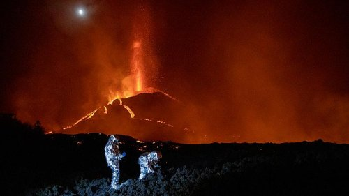River of lava flows from La Palma volcano over a month after it began erupting