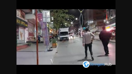Police intervention to fans celebrating the championship in Istanbul, Turkey 2