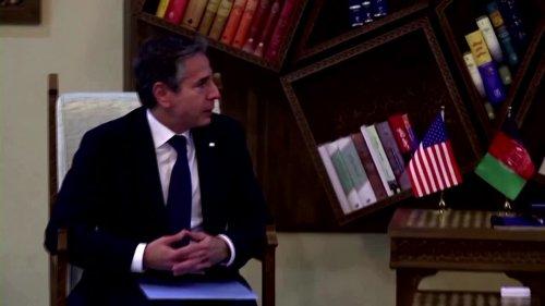 Afghan drawdown: Blinken makes surprise trip