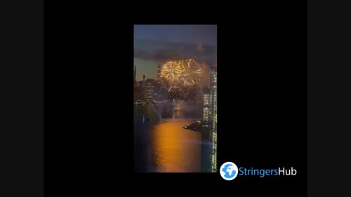 US: Celebration of the reopening of State Capitol with fireworks