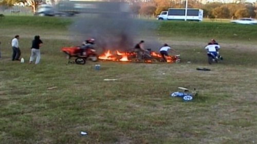 Watch These Guys Play Musical Chairs Inside of a Ring of Fire