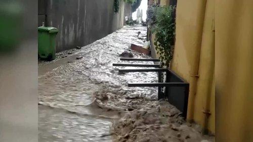Extreme weather, flash floods hit Lake Como
