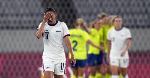 U.S. women's soccer team stunned by Sweden in opener