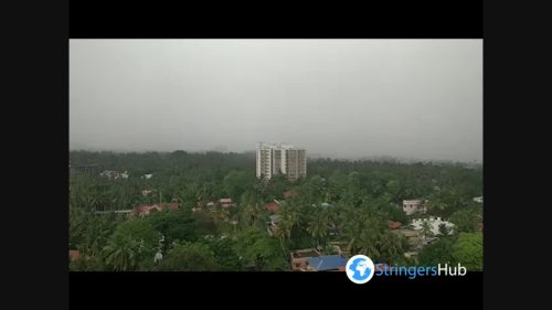 India: Wall Of Rain Travels Through Trivandrum, Kerala As Cyclonic Storm Tauktae Approaches