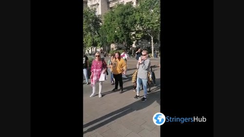 Protest against gay propaganda law in Budapest 4