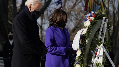 President Biden, VP Harris Continue Wreath-Laying Ceremony