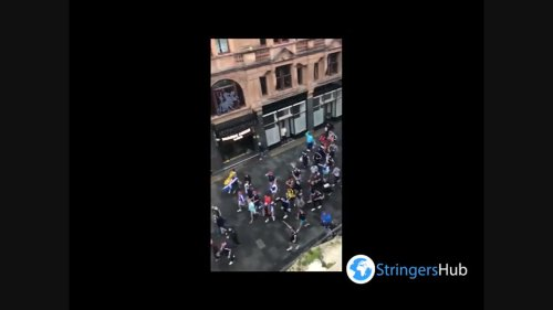 Euro 2020: Tartan Army march in Leicester Square, London, ahead of EURO 2020 match with England