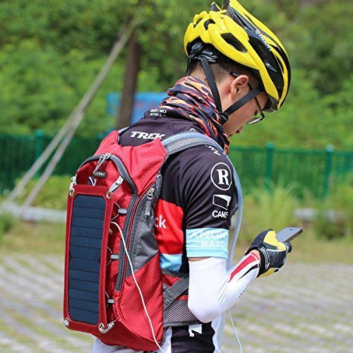 Hydration solar backpack with panel charger