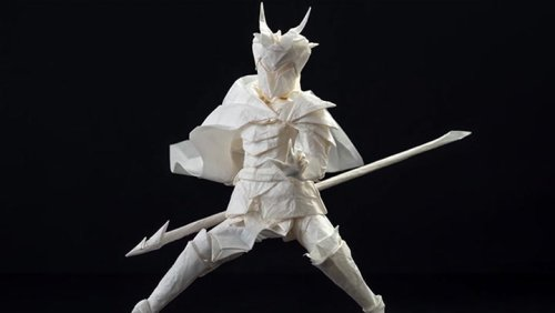Creating An Origami Character From One Sheet Of Paper