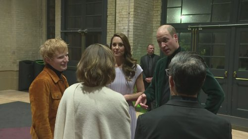 William and Kate meet celebrities after Earthshot Prize