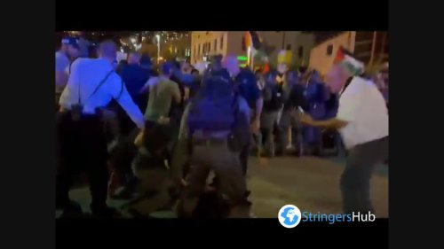 Israel: Violent clash between security force and palestinians in Haifa