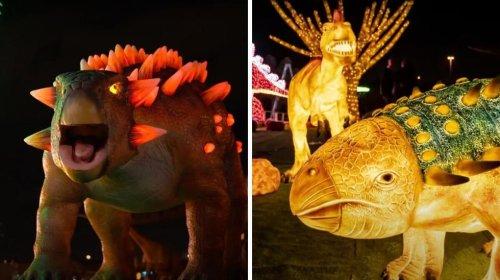 Laval's Massive Illumi Light Festival Has New Halloween Worlds With 50 Dinos