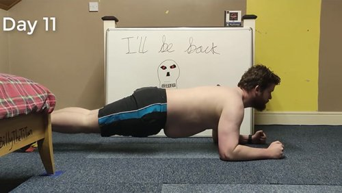 Incredible Body Transformation After Planking For 30 Days