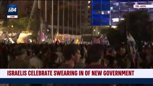 Tel Aviv Celebrates New Government and Prime Minister Naftali Bennett