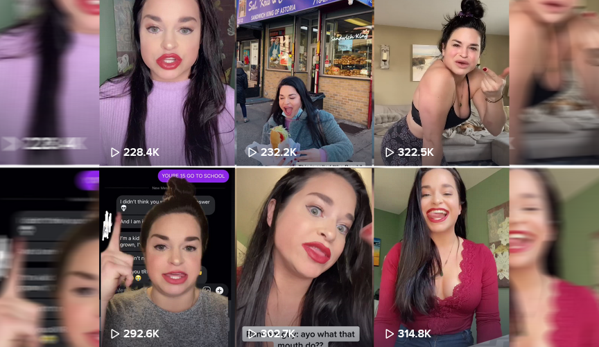 Woman with 'World's Biggest Mouth' is bending physics on TikTok