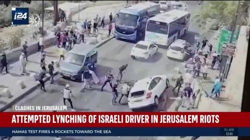 Attempted Lynching of Israeli Driver in Jerusalem Riots